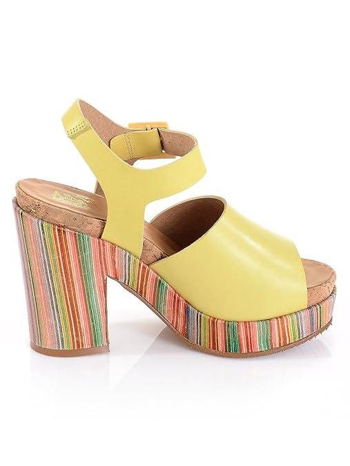 Alba Moda Sandalette im sommerlichen Style, gelb, gelb/multi