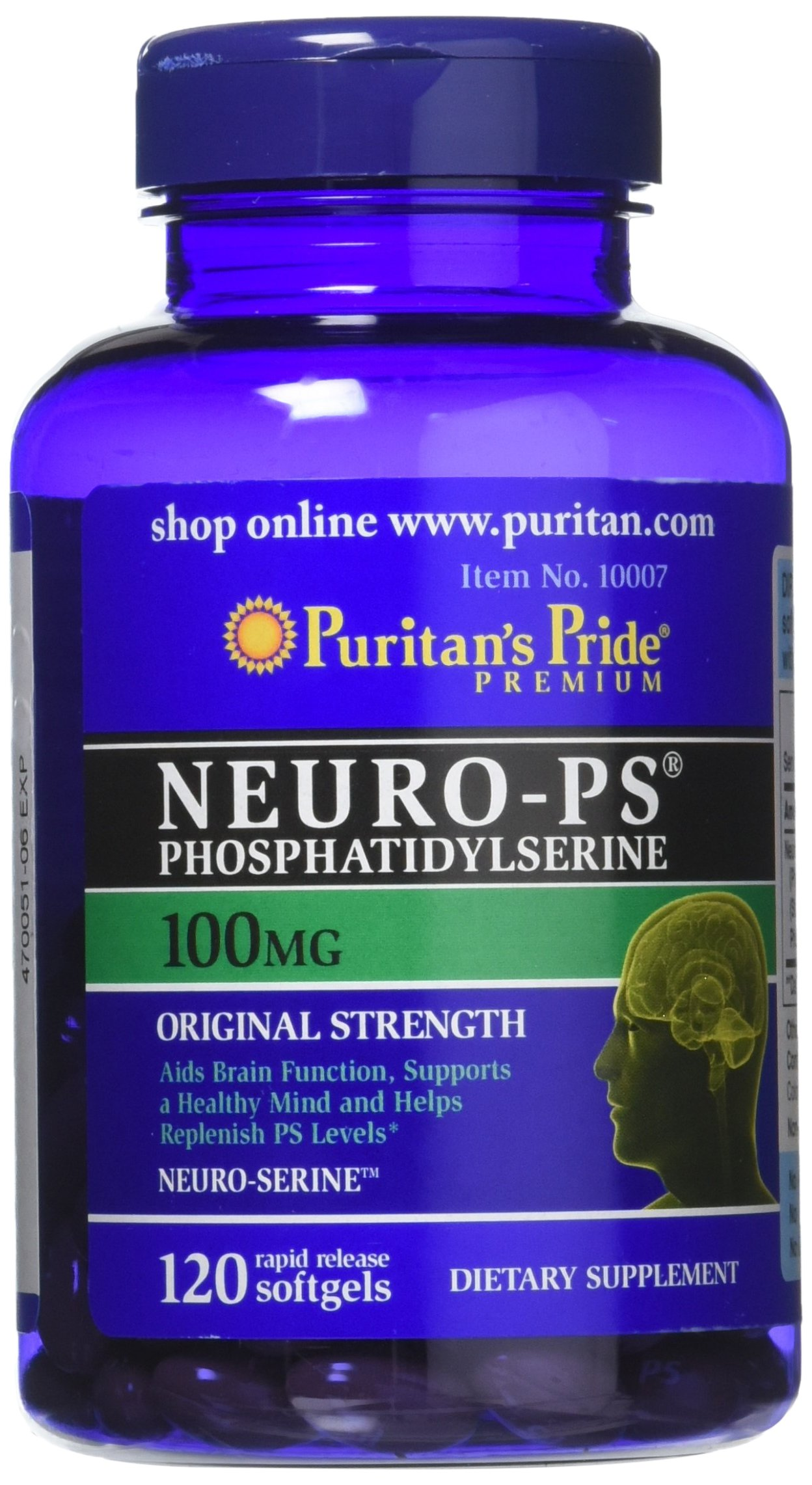 Puritans Pride Neuro Ps Gold 90 Softgels Health Puritan Triple Strength Glucosamine Chondroitin Msm Caplets Phosphatidylserine 100 Mg 120