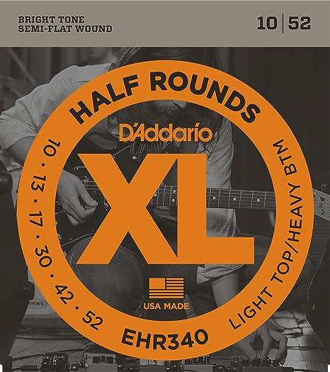 DAddario EHR340 - Juego de cuerdas para guitarra eléctrica.010 - .052