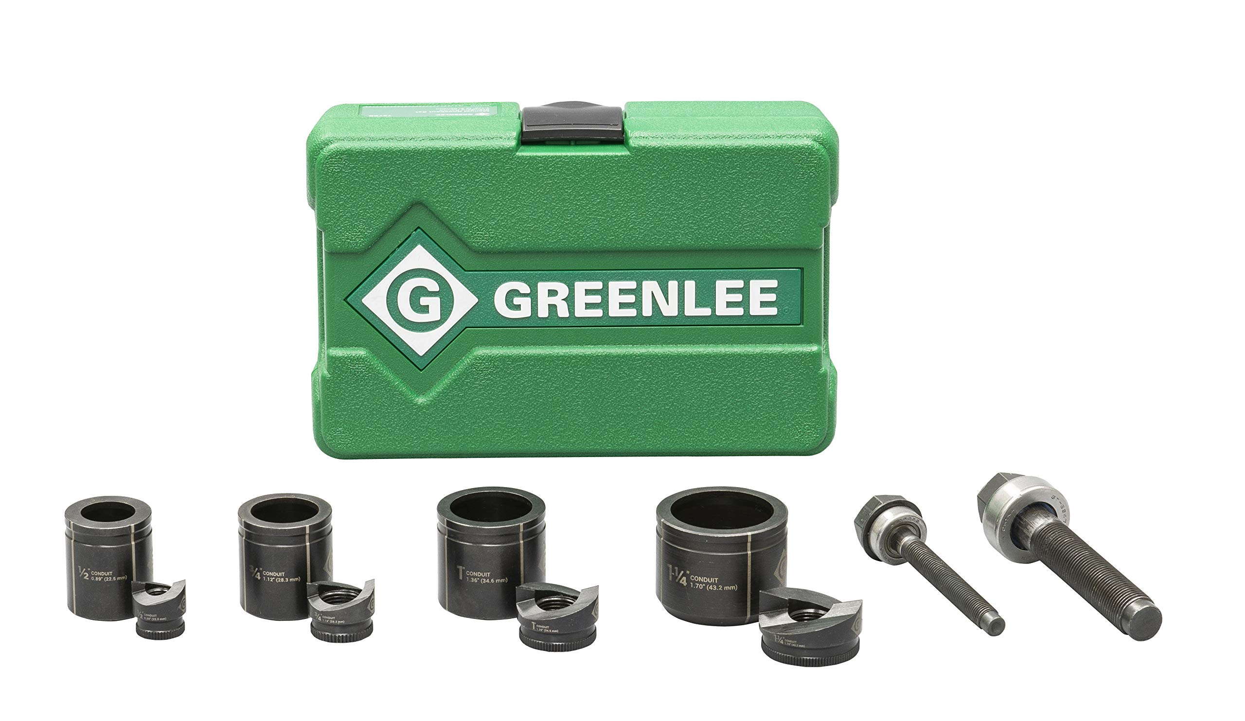 Hole Punch Set, 10 Piece, 10, 12 ga. Steel by Greenlee