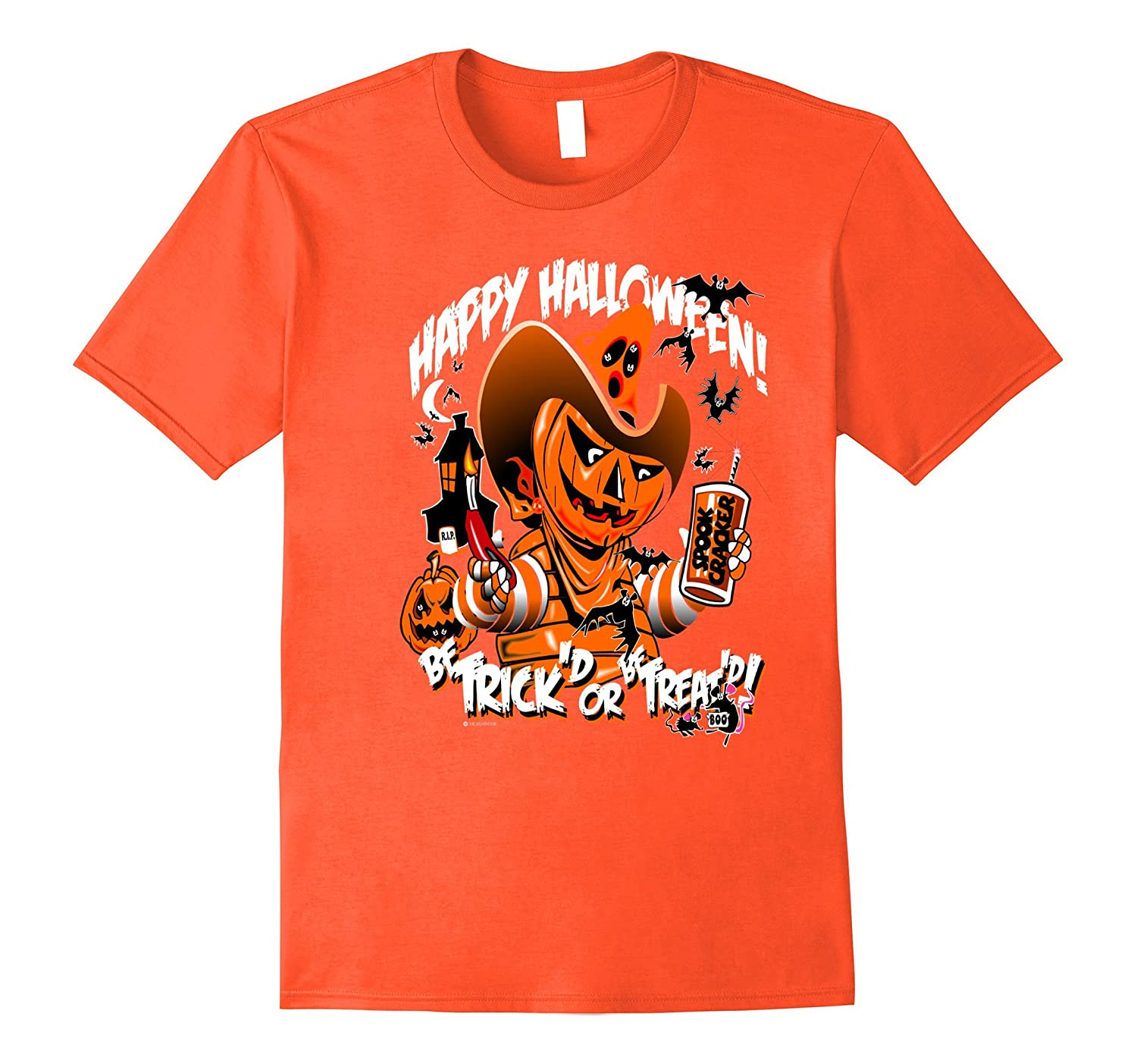 Halloween Pumpkin Head Holiday Spooky Humorous Tee Shirt-T-Shirt