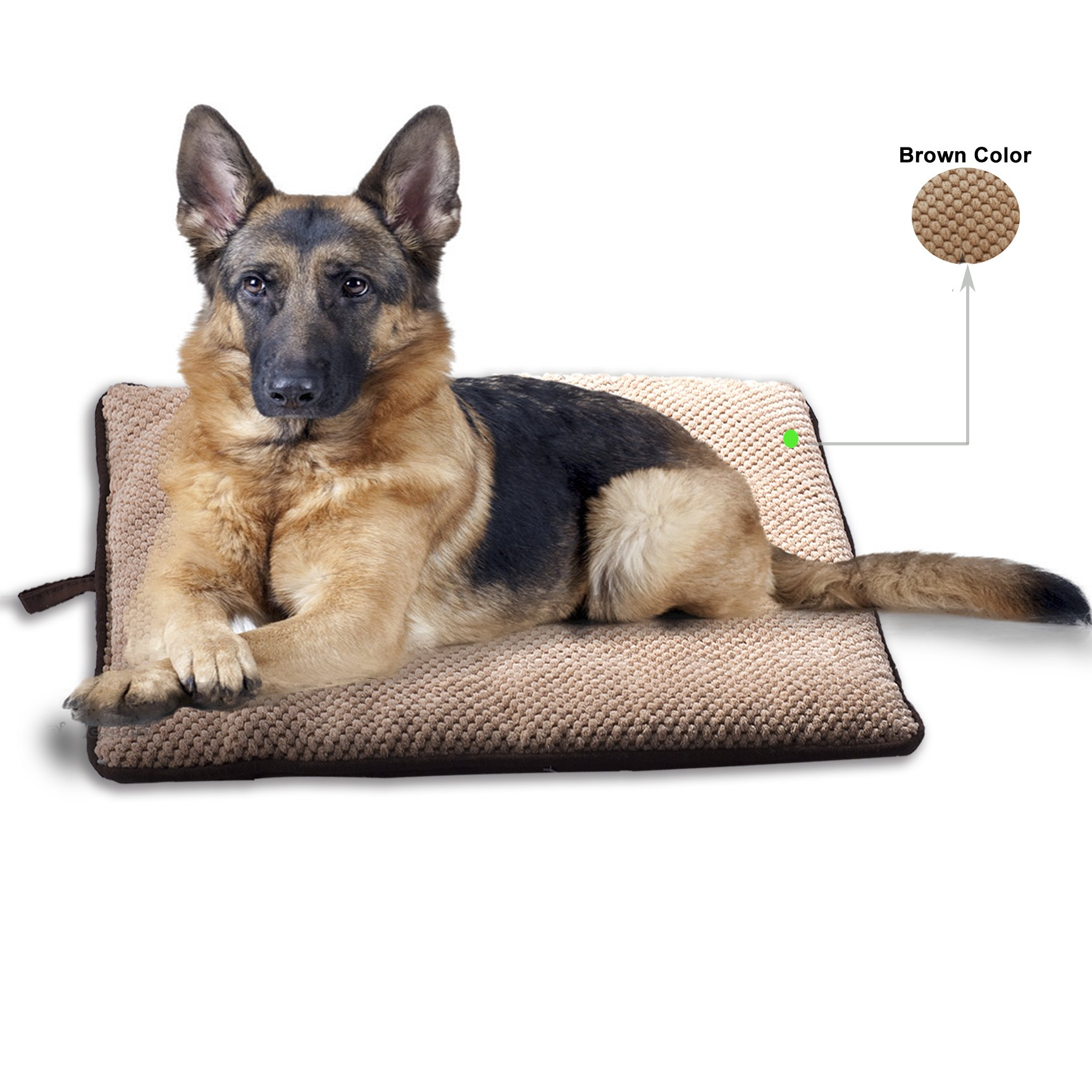 PAWISE Dog Bed Cat Bed Dog Mat Teflon Cushion Waterproof for Crate Outdoor Car Mat Machine Wash (X-Large-New)
