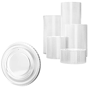 Leakproof, BPA Free 5.5oz Souffle Lids 200ct. Stackable Lids for Containers for Sampling, Salad Dressing, Sauces or Jello Shots. Plastic Food Prep Supplies for Restaurant, Catering or Deli
