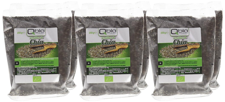 Qbio Semillas de Chía - 6 Paquetes - [pack de 3]: Amazon.es ...