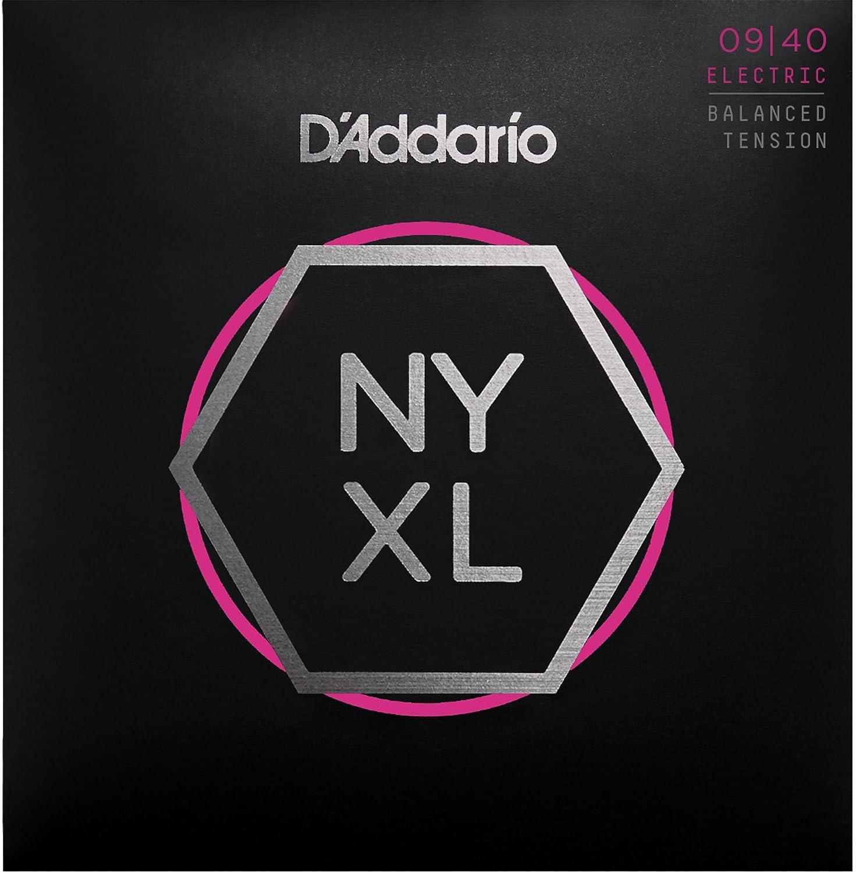 Cuerdas para Guitarra Eléctrica DAddario NYXL0940BT Nickel Wound, Balanced Tension Super Light, 09-40: Amazon.es: Instrumentos musicales
