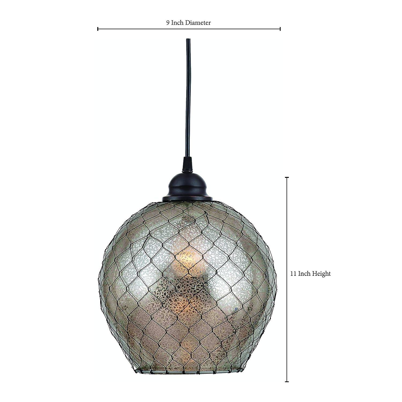 Kenroy Home 93038AMER Nillo 1-Light Pendant, Blackened Oil Rubbed ...