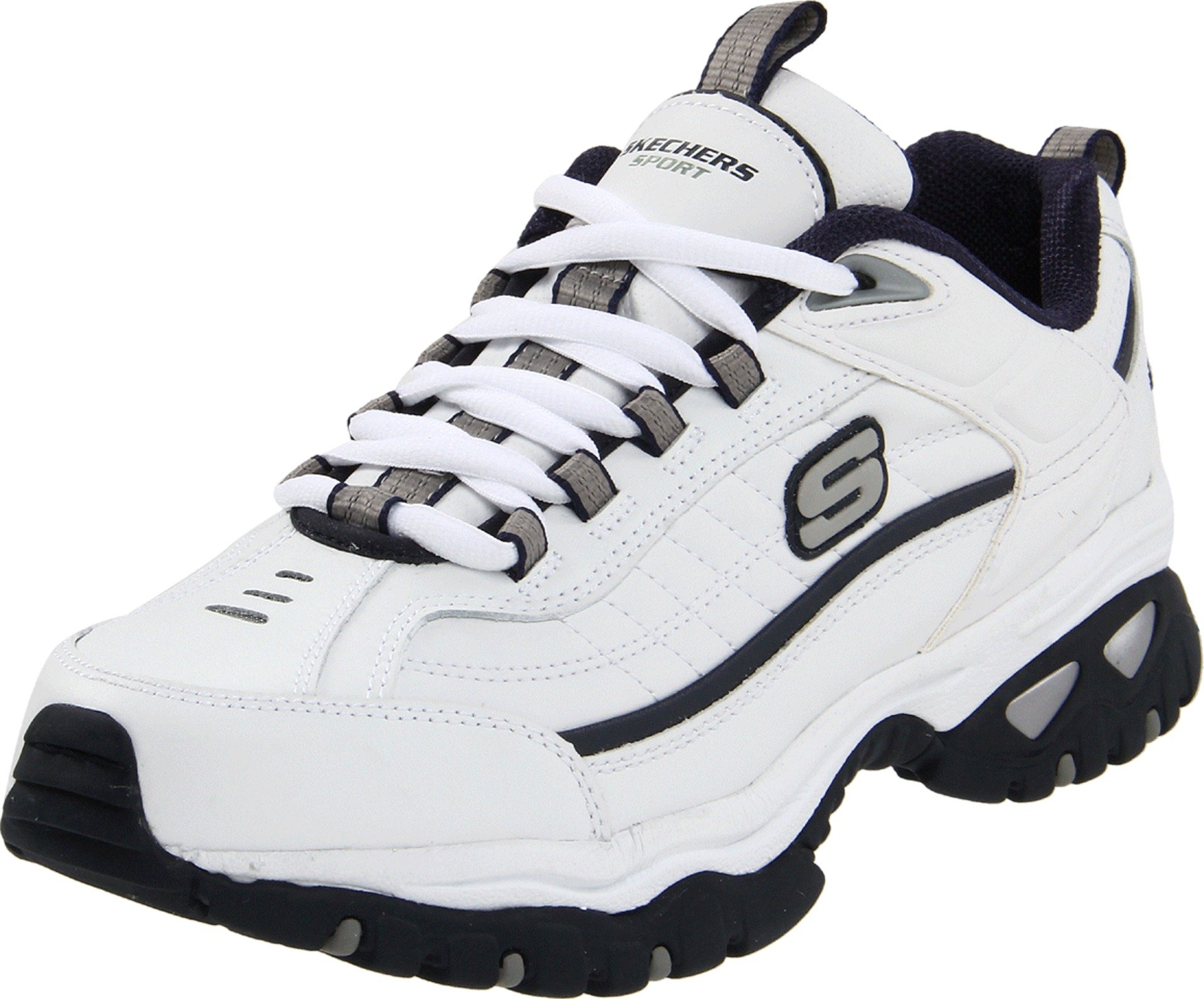 Skechers Sport Men's Energy Afterburn Lace-Up Sneaker,White/Navy,8.5 XW US by Skechers