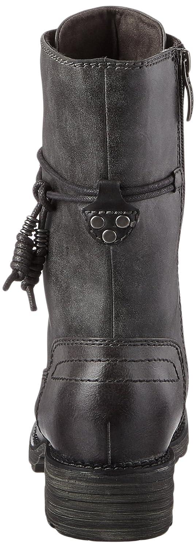 Tamaris Damen 26217 Combat Stiefel Stiefel Stiefel  Grau (Graphite) 0c953e