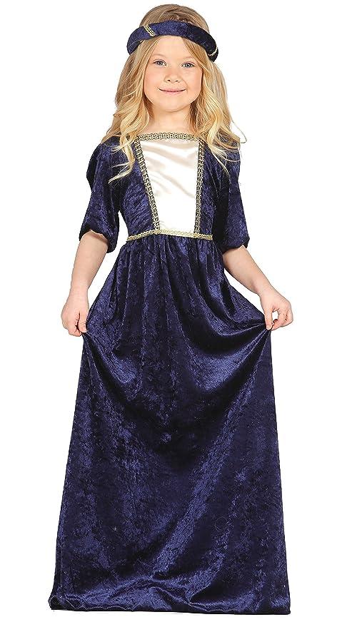 a57b15554ec4 Fiestas Guirca Costume da Dama Medievale 7 9 Anni Femmina