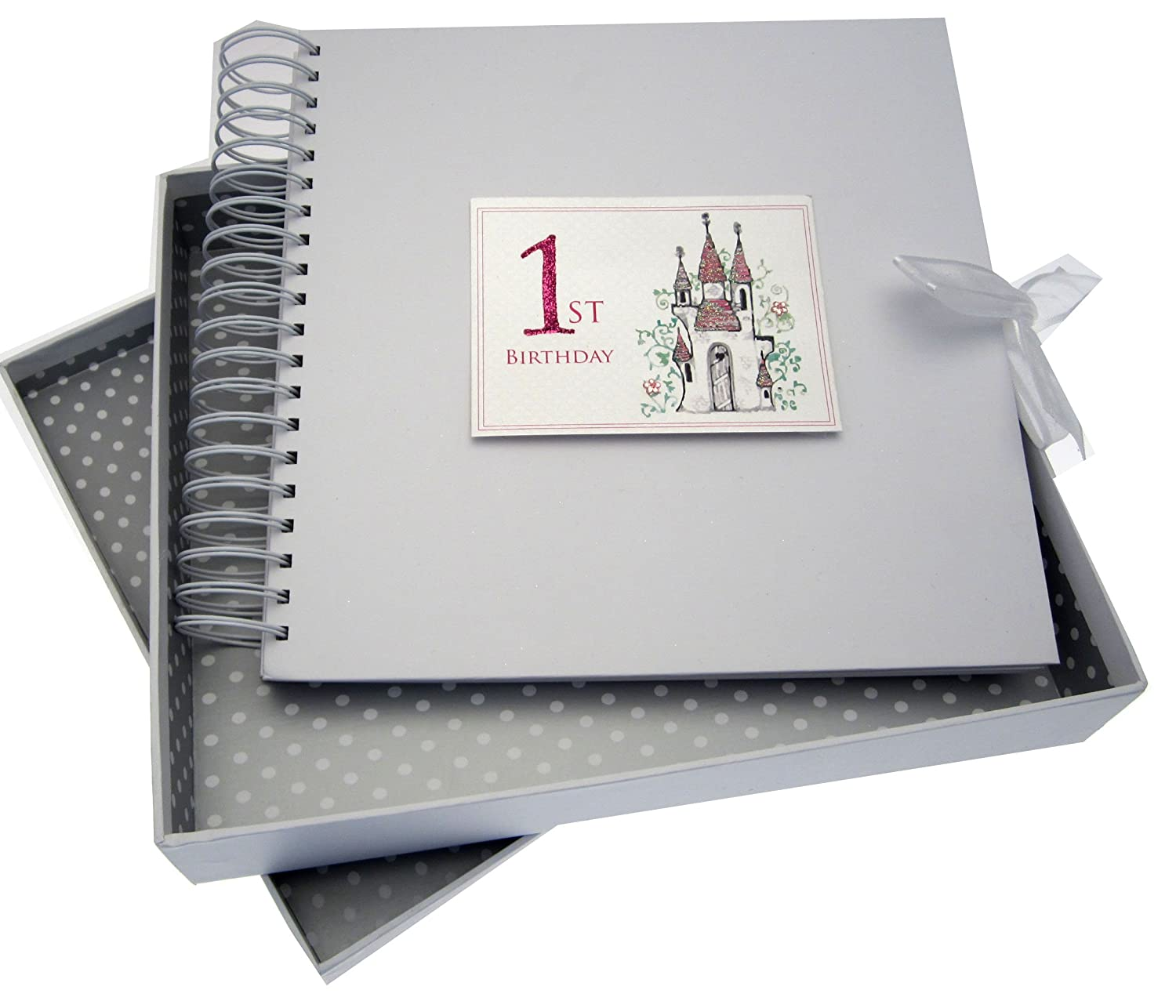 White Cotton Cards Castle Age 1 Card and Memory Book Code CAS10