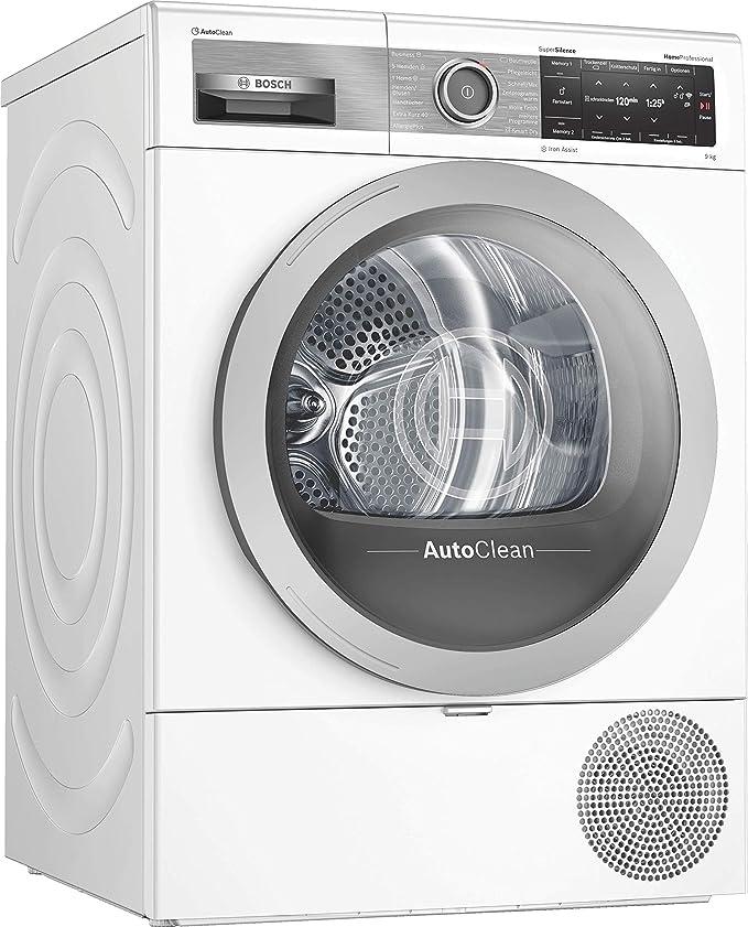 Bosch WTX87E40 Homeprofessional - Secador de bomba de calor (A++++, 193 kWh/año, 9 kg, con puerta de cristal, AutoClean, Smart Dry, Iron Assist, Home Connect) Secador de bomba de calor. Blanco: Amazon.es: