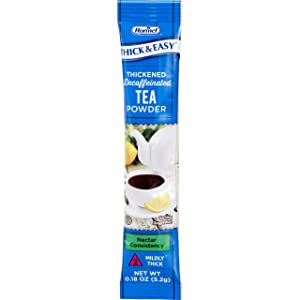 Thick & Easy Decaffeinated Beverage Thickener 0.18 oz. Tea Flavor Powder Nectar, Case of 72