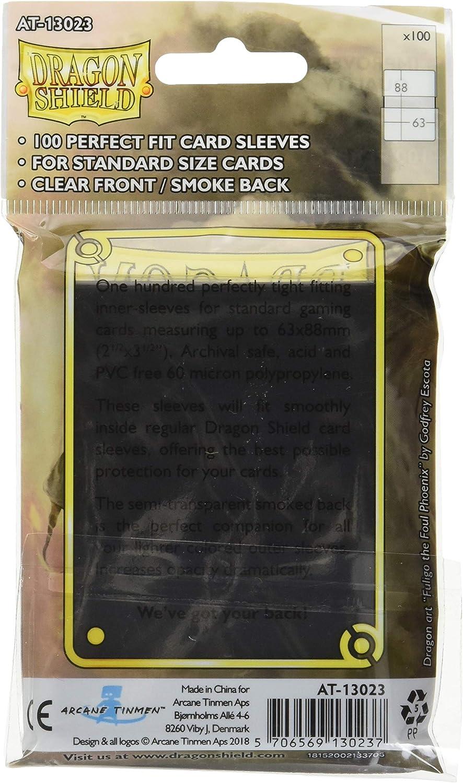 AT-13023 Perfect Fit Deck Protector Sleeves Smoke Dragon Shield 100