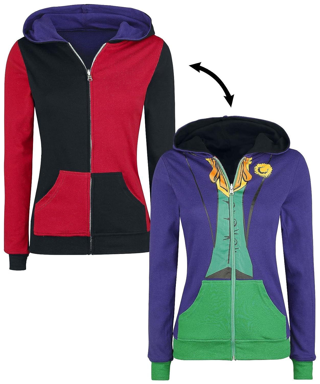 DC Comics Harley Quinn Joker Juniors Reversible Zip Up Hoodie Bioworld