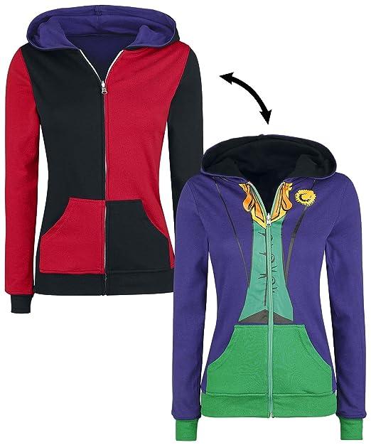 DC Comics Joker & Harley Chaqueta con capucha Mujer multicolor S