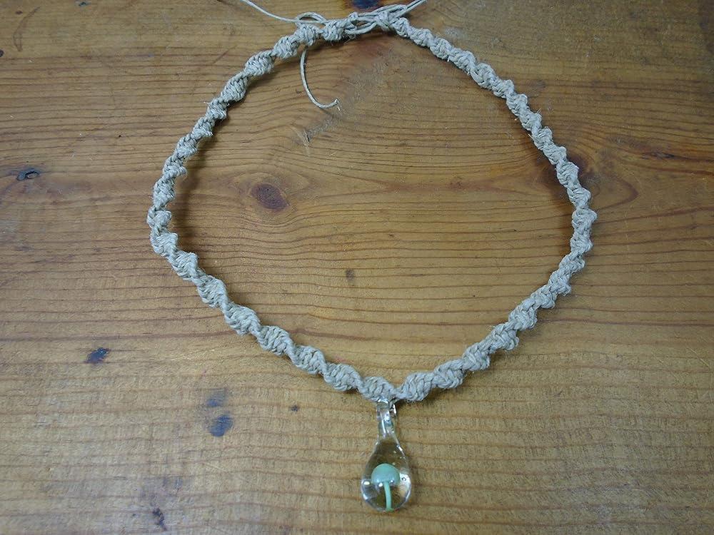 Hemp Necklace Mushroom Necklace Hemp Jewelry Custom Hemp Necklace with Killer Whale and Sunset Fimo Clay Mushroom Pendant