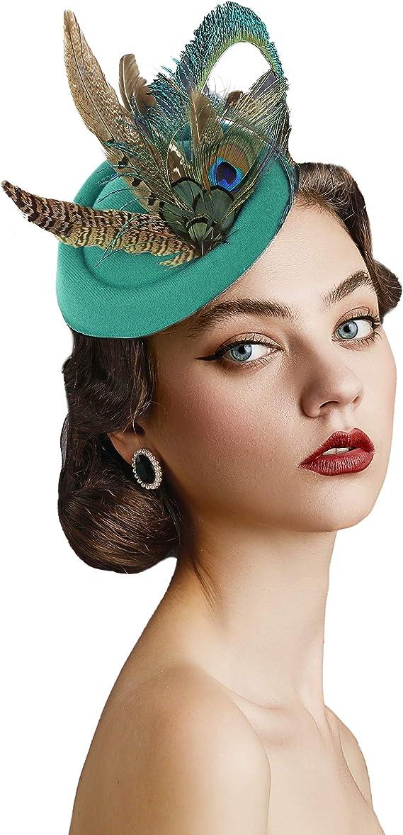 Feather Headpiece Kentucky Derby hat Red Headpiece Royal Ascot hat Matilda Black Headpiece.