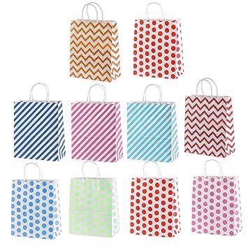 10 pcs brillantes puntos frescos onda raya papel regalo ...