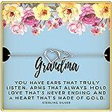 KEDRIAN Grandma Bracelet, 925 Sterling Silver, Best Grandma Gifts For Women, Gifts For Grandma, New Grandma Gifts, Gift…