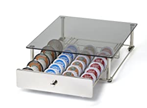 NIFTY KB6590 Glass Top Storage Drawer for Keurig 2.0, Chrome