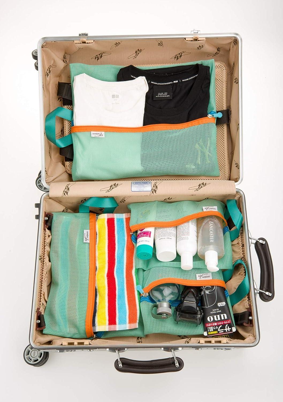 La 4pcs rosa estuche organizador de funda con cremallera organizador equipaje embalaje bolsas de viaje para ropa maquillaje Sundries storage-, Mint: Amazon.es: Deportes y aire libre