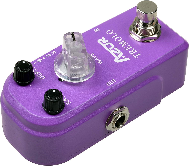 AZOR Mini Pedal Tremolo Classic Guitar Effect Pedal Super Mini