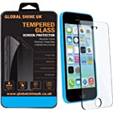 GlobalShineUK® Apple iPhone 5s 5c 5 6 Tempered Glass Screen Protector Guard Cover
