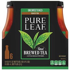 Pure Leaf Unsweetened Tea, 16.9 oz, 6 pk