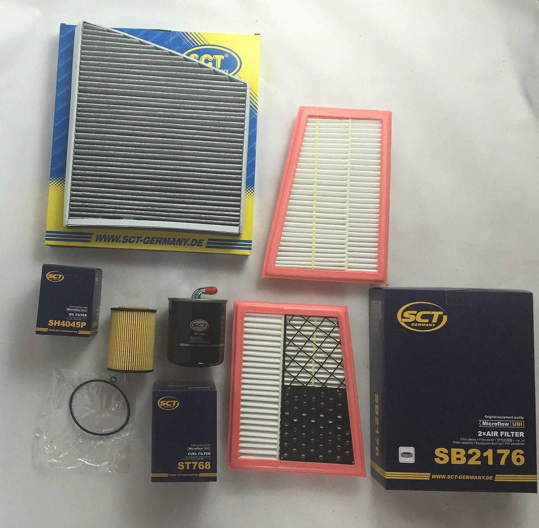 Juego de filtros filtro de aire de aceite Filtro de combustible Filtro de carbó n activo SCT GERMANY