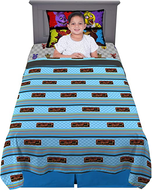 Five Nights at Freddys Kids Twin Bed Blanket