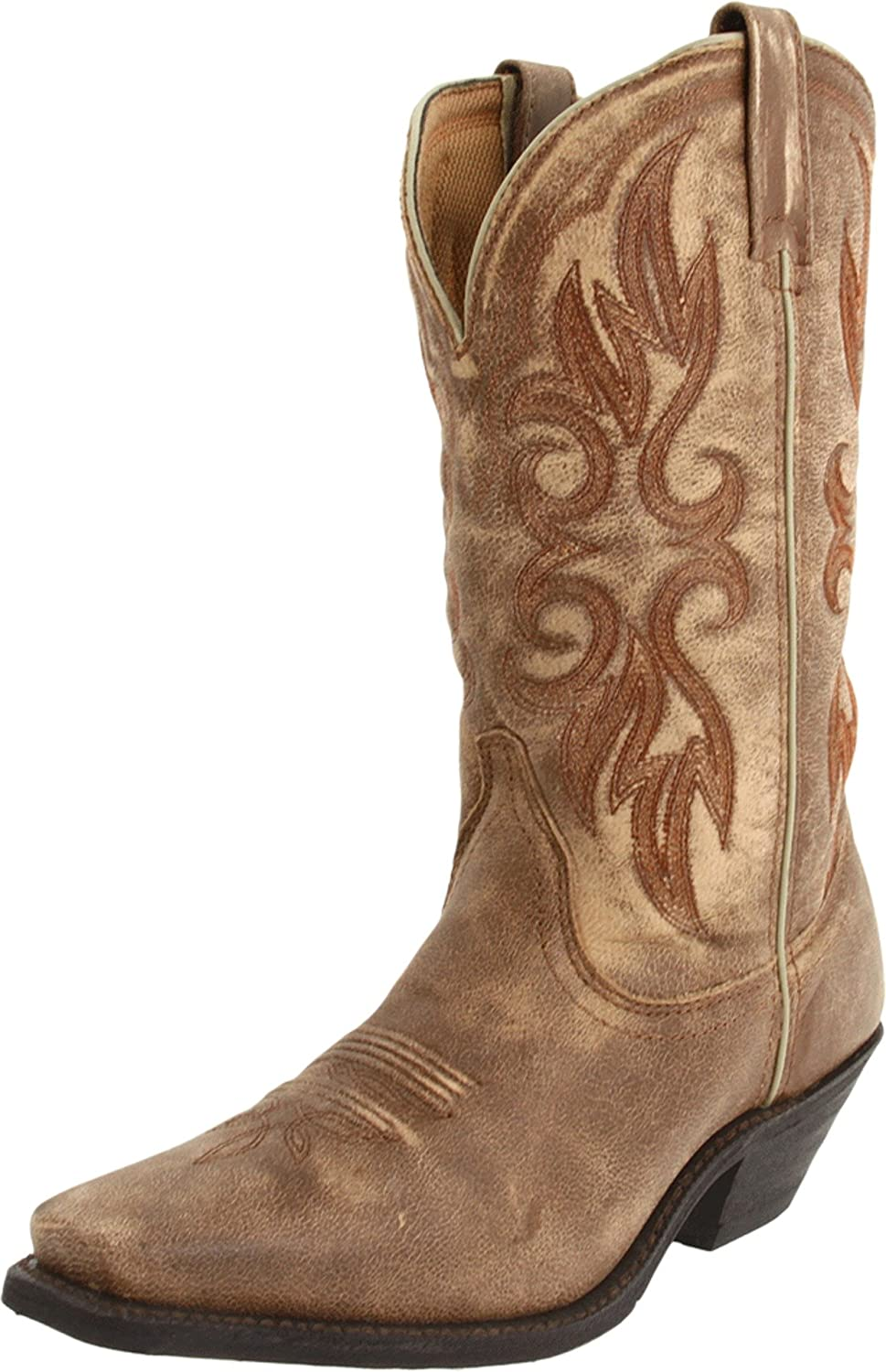 Laredo Women's Maricopa Boot B007CO07ZK 10 B(M) US|Tan/Tan Crackle Goat