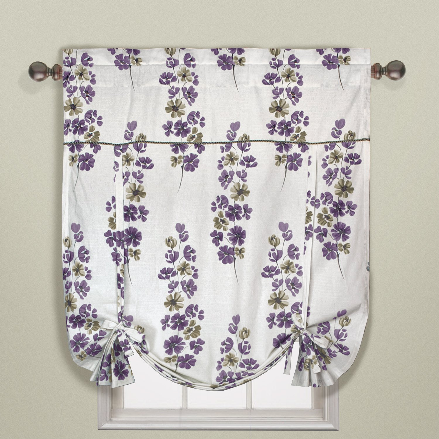 70 by 72-Inch United Curtain Chelsea Shower Curtain Amethyst UCSHOWCHLAM