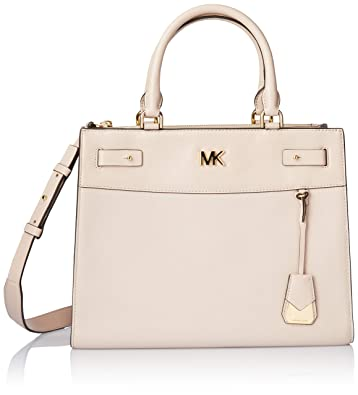 40fa32dbadef39 Amazon.com: MICHAEL Michael Kors Reagan Large Leather Satchel Bag, Soft  Pink: Shoes