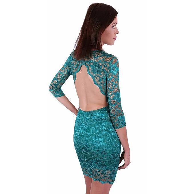 ASOS el vestido verde oscuro sin espalda - 36