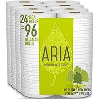 24-Count Aria Premium Earth-Friendly Toilet Paper Mega Roll (96 Regular Rolls)