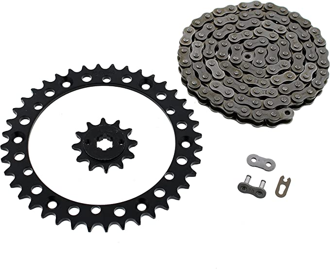 1988-2006 Yamaha YFS 200 Blaster Blue O-Ring Chain /& Black Sprocket 14//40 92L