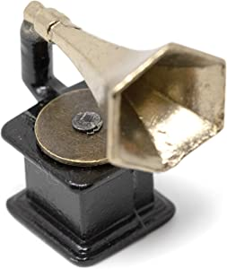 American Heritage Industries Dollhouse Gramophone- Antique Miniature Gramophone for Scaled 1:12 Dollhouses, Unique Dollhouse Accessory, an Product