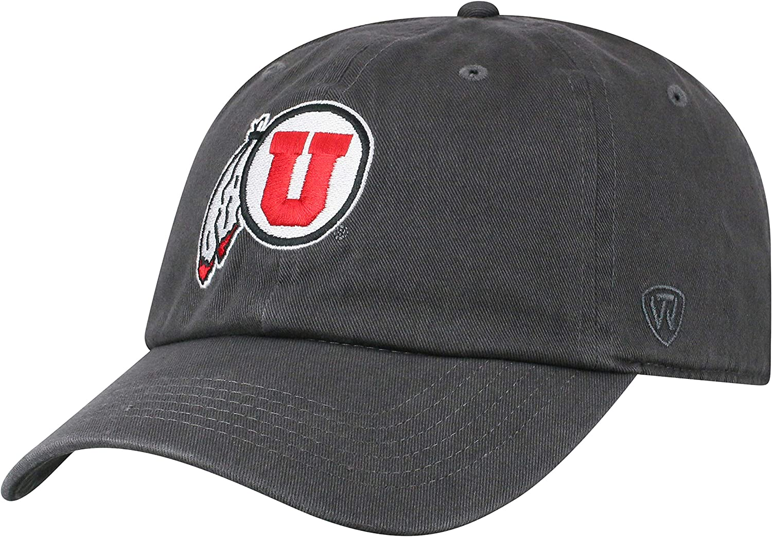 Top of the World Men's Adjustable Relaxed Fit Charcoal Icon Hat