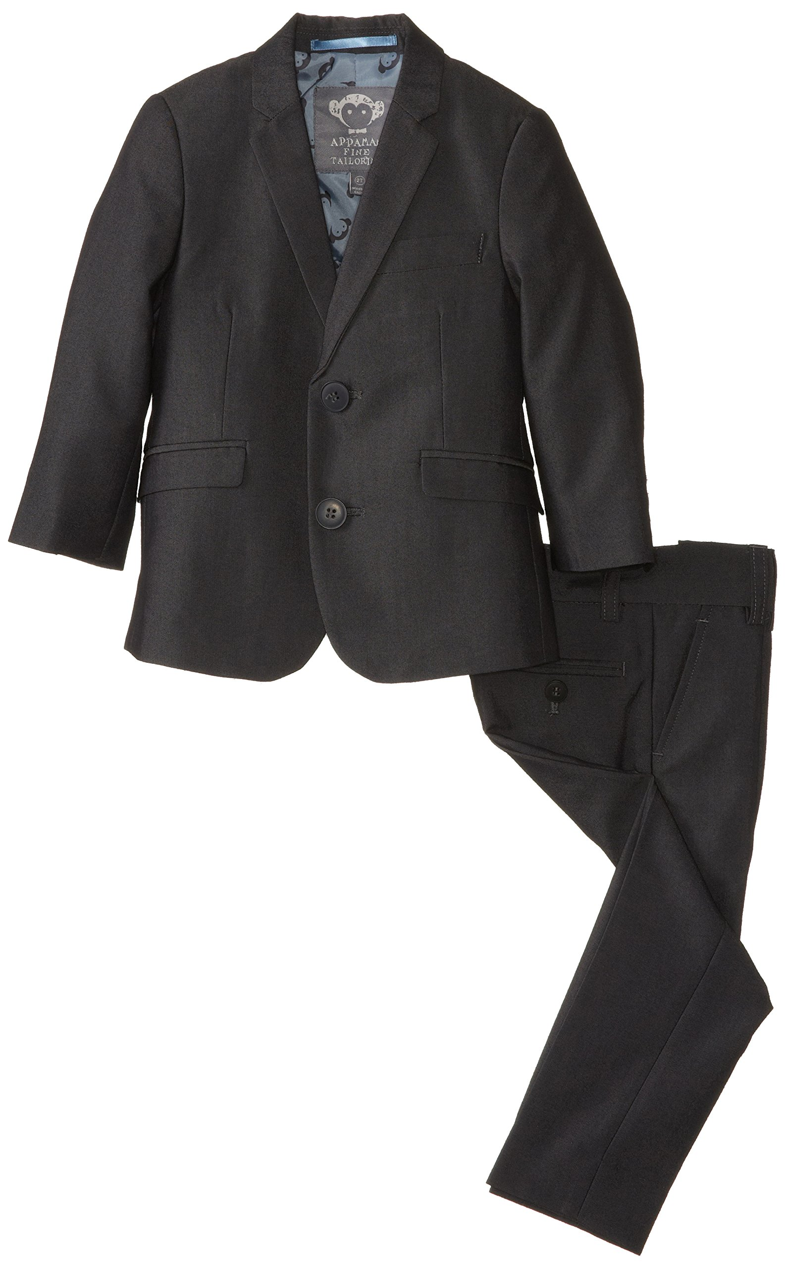 Appaman Boy's Two Piece Classic Mod Suit, Vintage Black, 7