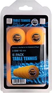SportzGo Palline da Ping Pong–3-Star 40mm Advanced Training regolamento Dimensioni Palle 6PK Orange
