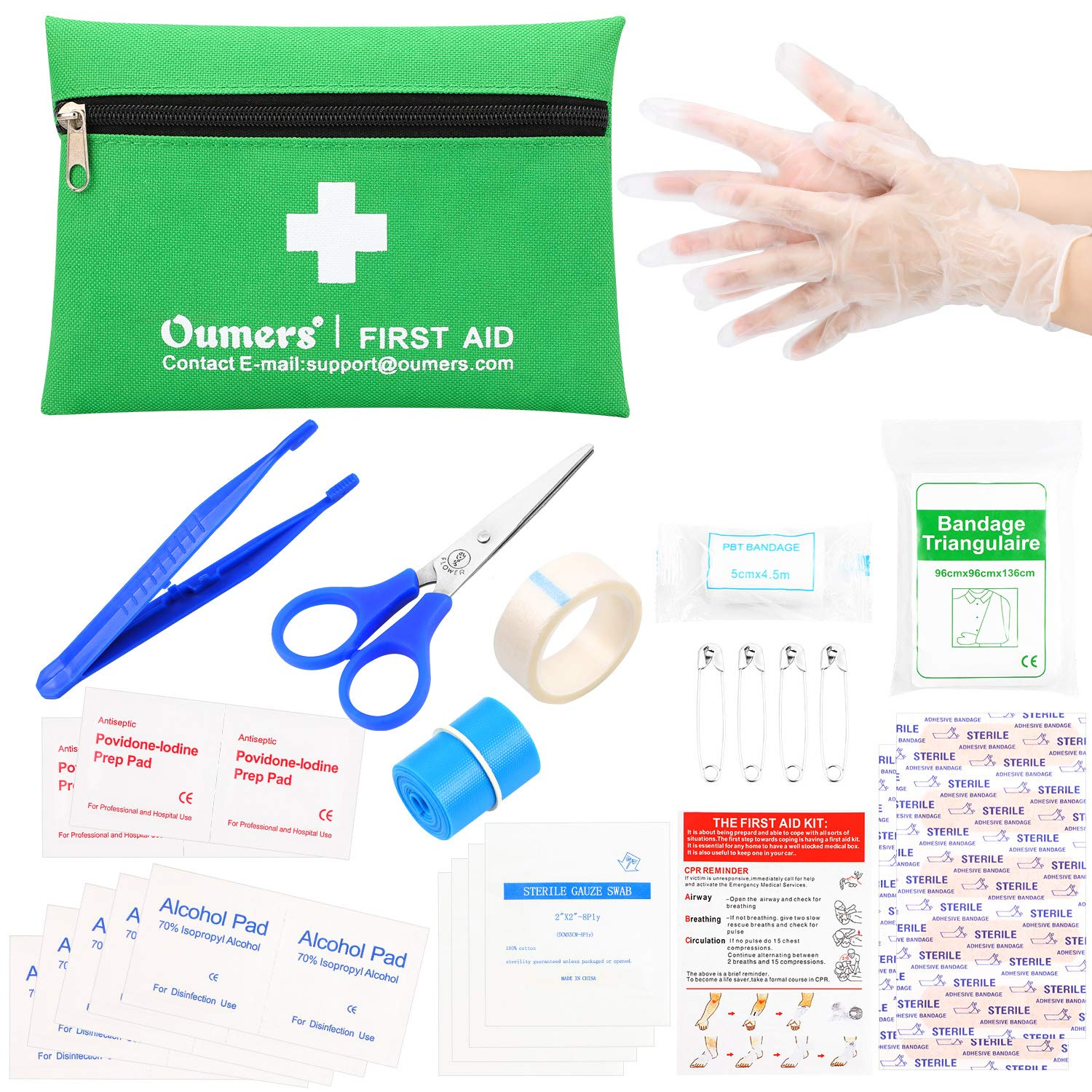 Oumers First Aid Kit, Portable Medical Survival Bag. Mini Compact First Aid Bag Emergency Kit for Home, Car, Travel, Workplace and Outdoor Activies Emergency Rescue Outdoor Gear