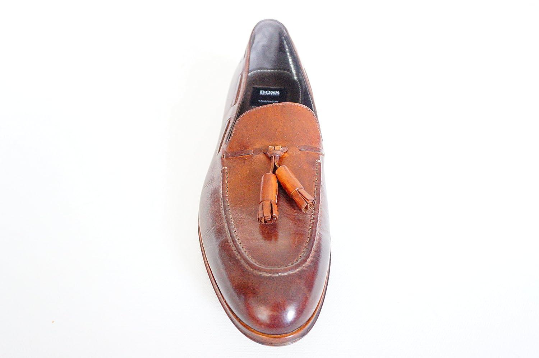 Hugo Boss - Mocasines de Piel para Hombre Marrón marrón 44: Amazon.es: Zapatos y complementos