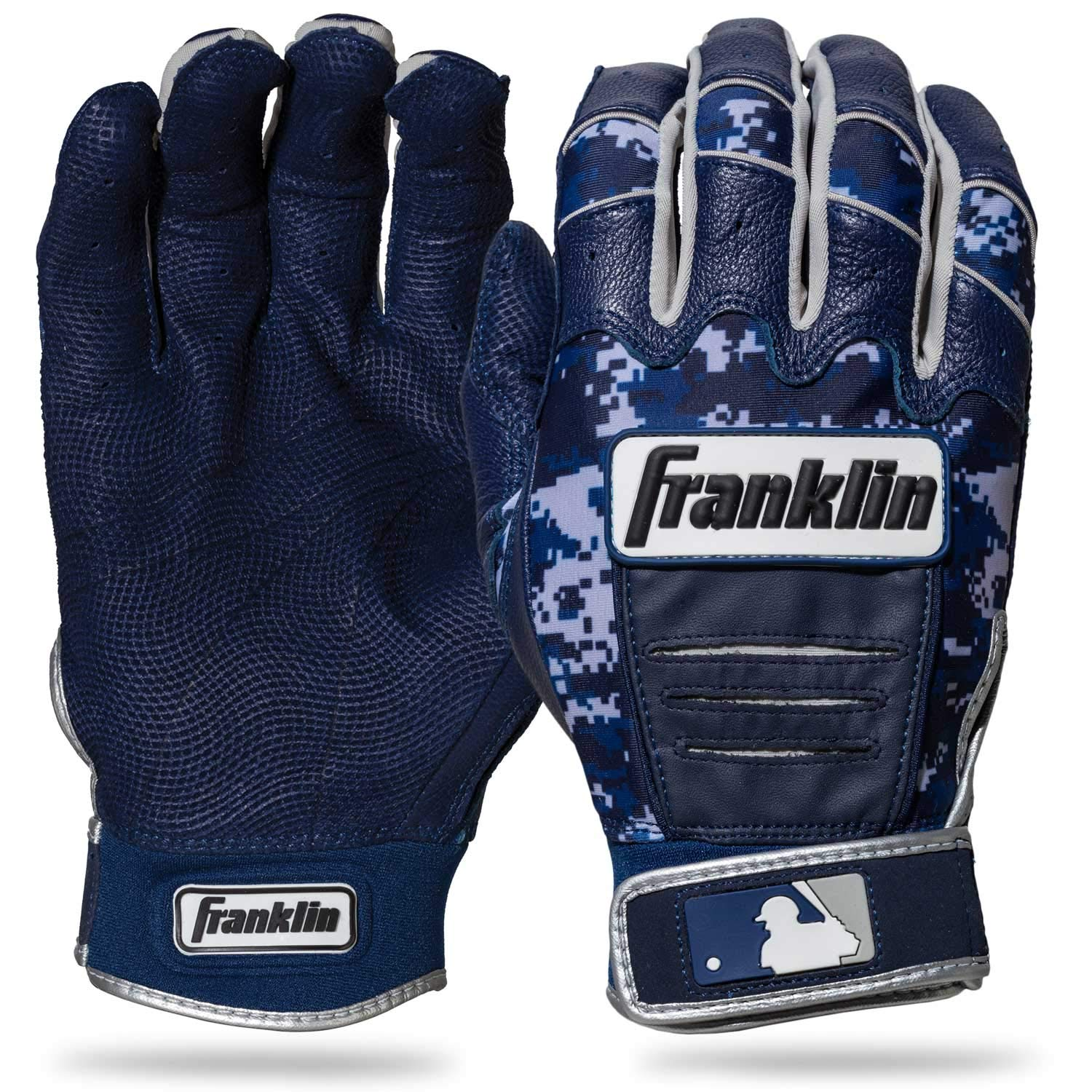 Franklin Sports CFX Pro Digi Series Batting Gloves Navy/Navy Camo Adult Small by Franklin Sports (Image #1)