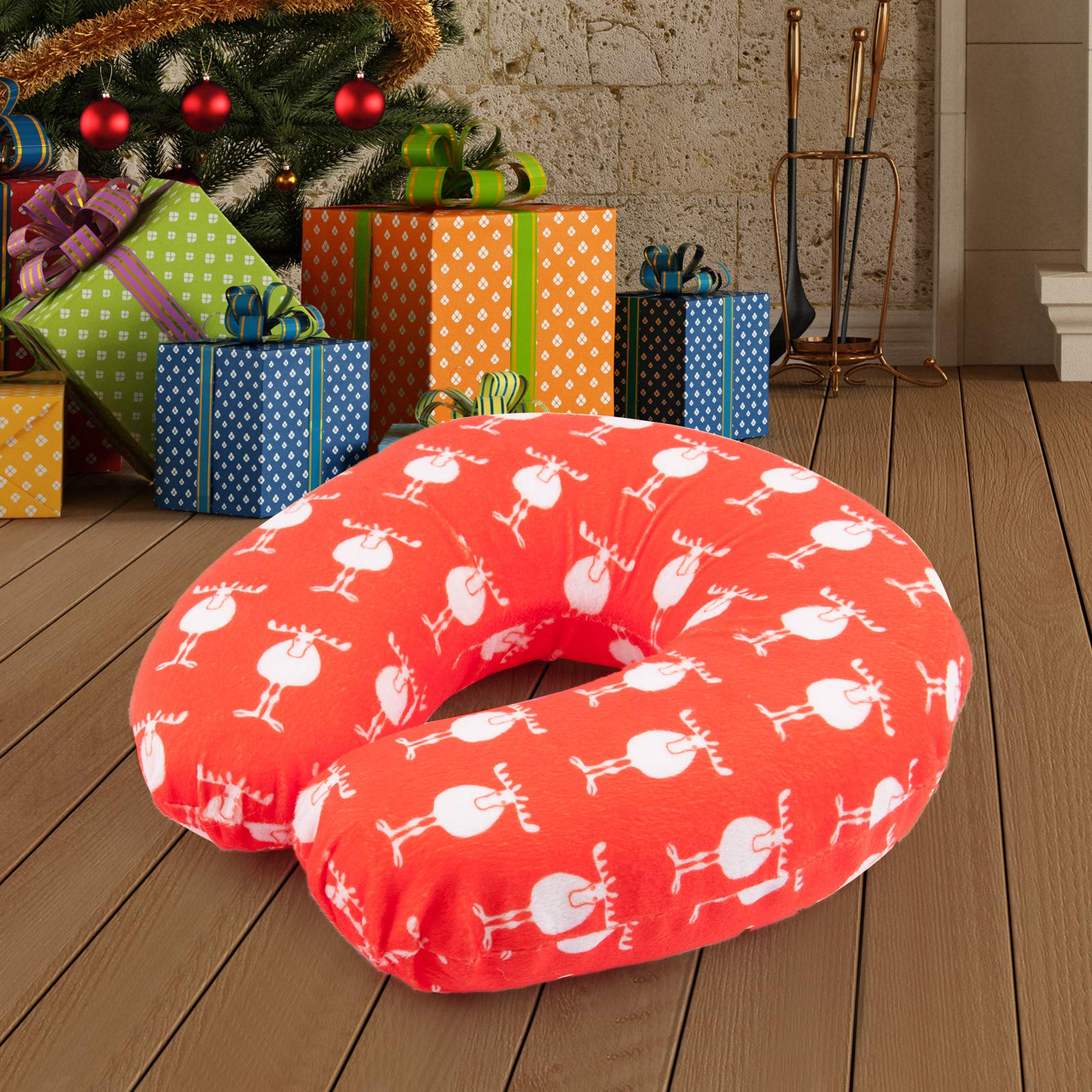 Moonen Travel Pillow Memory Foam Neck Pillow for Family and Friends with Removable and Washable Microfiber Cover Head Support on a Train Airplane Car Bus