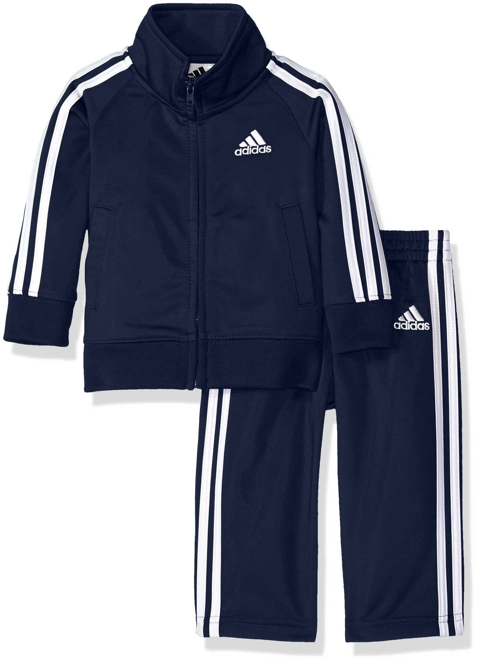 adidas Boys' Baby Tricot Jacket and Pant Set, Collegiate Navy, 12M