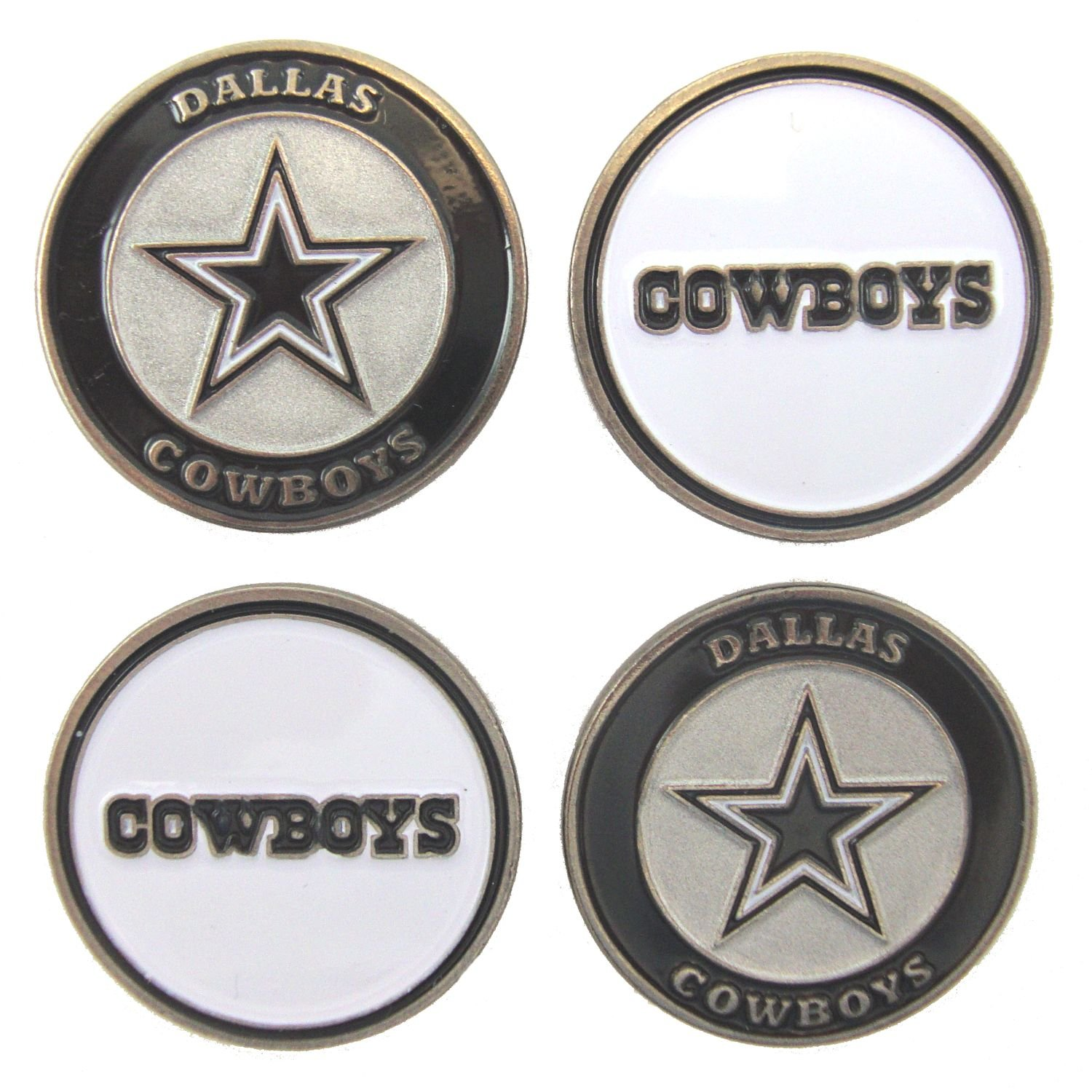 Amazon.com   Dallas Cowboys Golf Ball Markers (Set of 4)   Sports   Outdoors 400dfc12a
