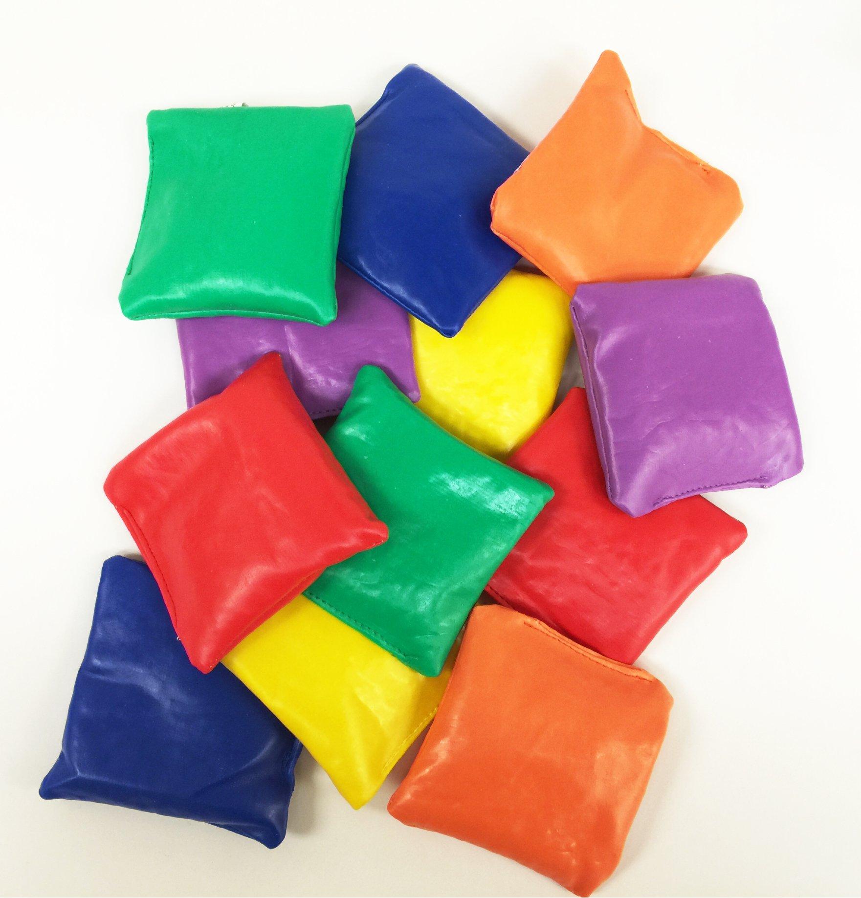 GIFTEXPRESS 1 DOZEN Vinyl Bean Bags Educational/Toss Games/Parachute Games/Classroom Supplies