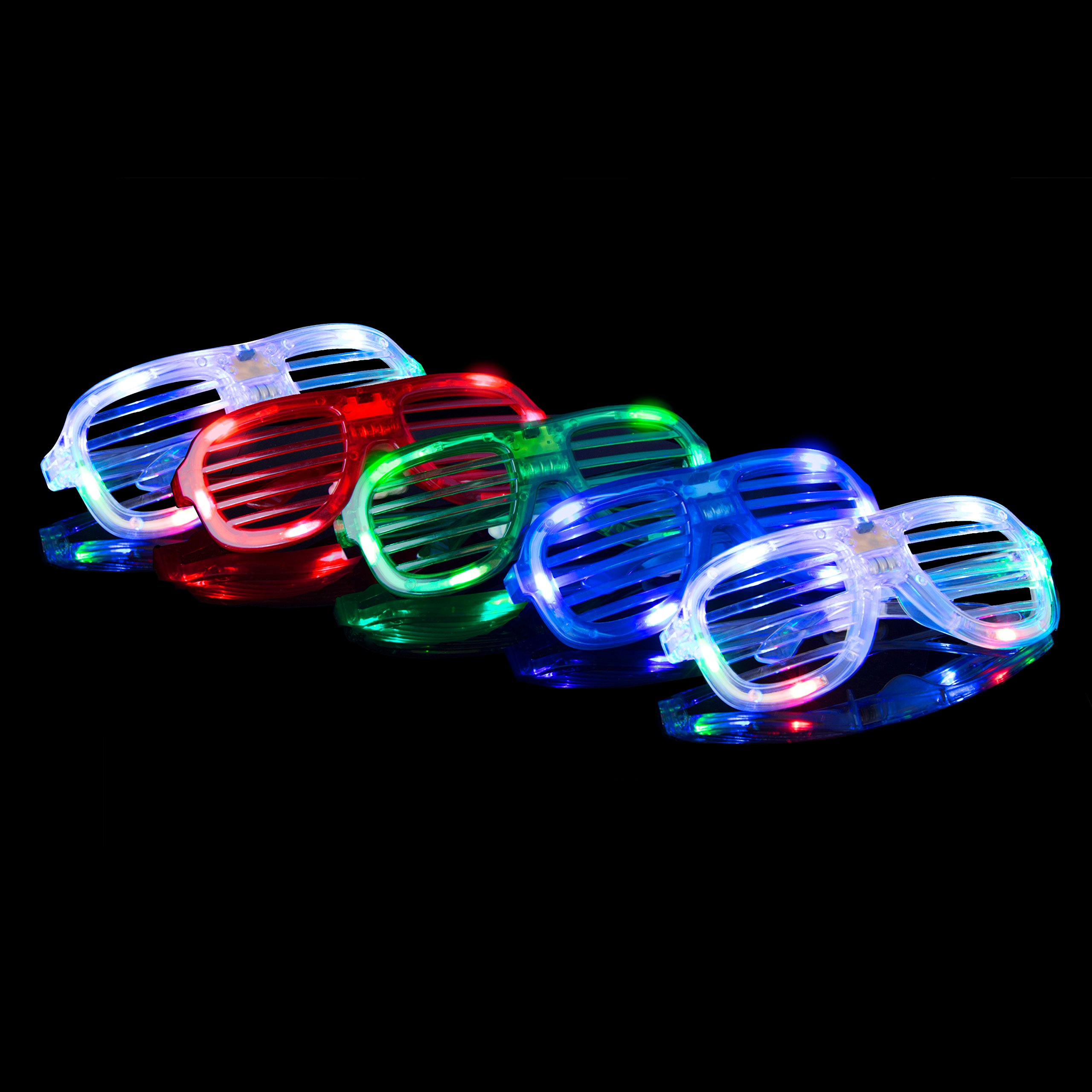 LED Glow Party Favors Party Supplies - 50 LED Glow Party Favor for Kids Glow in The Dark Party Supplies 32 Finger Light Up Toys + 13 Glow Rings + 5 Shades by PartySticks (Image #3)