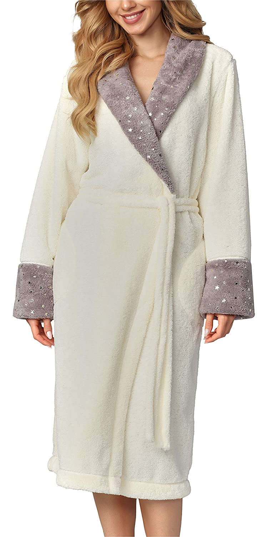 L/&L Accappatoio Felpato Vestaglia Donna LL0073