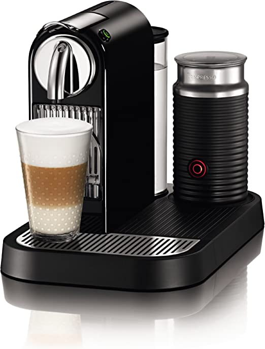 Nespresso D121-US4-BK-NE1 Citiz Espresso Maker with Aeroccino Milk Frother, Black